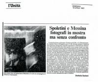 1987 Roma - Galleria Underwood - L'unita