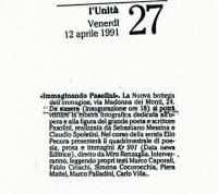 1991 Roma Nuova Bottega dellImmagine - Immaginando Pasolini - 3