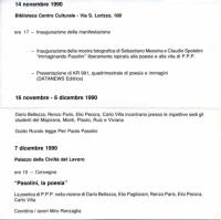 1990 Roma Palazzo della Civilta Italiana - Immaginando Pasolini - 2