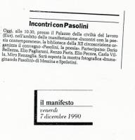 1990 Roma Palazzo della Civilta Italiana - Immaginando Pasolini - 6