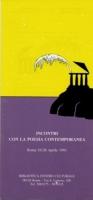 1991 Incontri con la poesia contemporanea 1