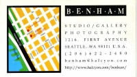 1997 Seattle U.S.A. -Unreality - Benham Gallery map